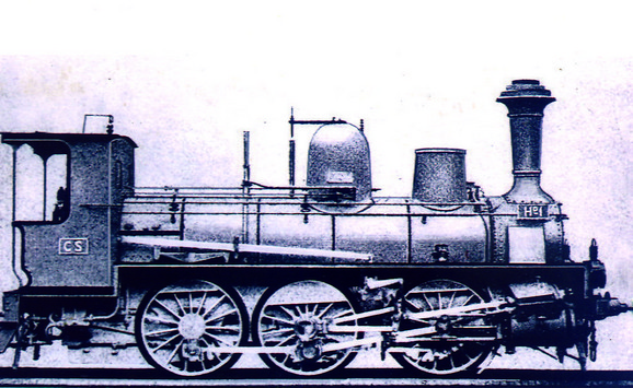 Lokomotiva koja je vukla prvi svečani voz na pruzi Beograd - Niš 1884. godine imala je maksimalnu brzinu od 55 km na sat