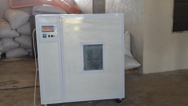 Incubator made by Ghanaian TA