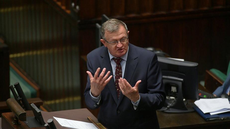 Posiedzenie Sejmu. Tadeusz Cymański