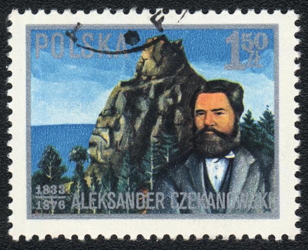 Polski znaczek pocztowy z Aleksandrem Czekanowskim