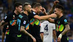Inter Milan ran riot against Bologna to move top of Serie A Creator: MIGUEL MEDINA
