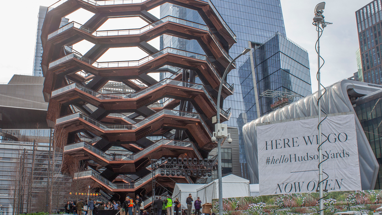 Hudson Yards, New York City's $25 billion neighborhood, is officially open to the public. On March 15, I attended the grand opening ceremony in the central plaza.