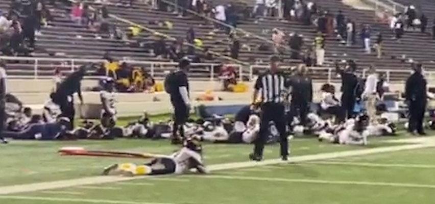 Strzały podczas meczu. Na stadionie wybuchła panika. Cztery osoby ranne [WIDEO]