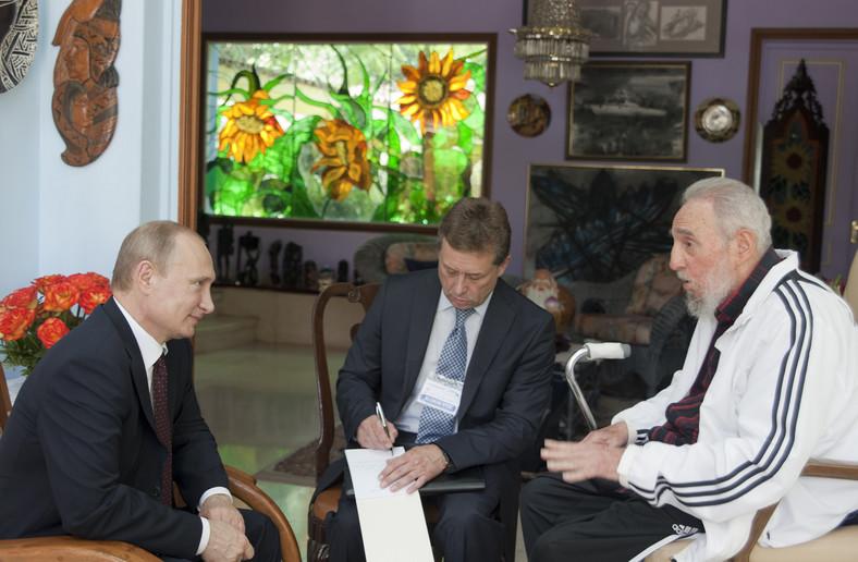 Władimir Putin i Fidel Castro