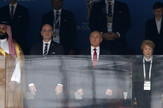 Princ Saudijske Arabije Mohamed bin Salman i Vladimir Putin, predsednik Rusije u loži stadiona Ližinjski