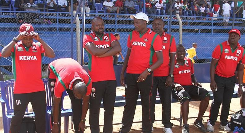 Harambee Stars officials at a past match