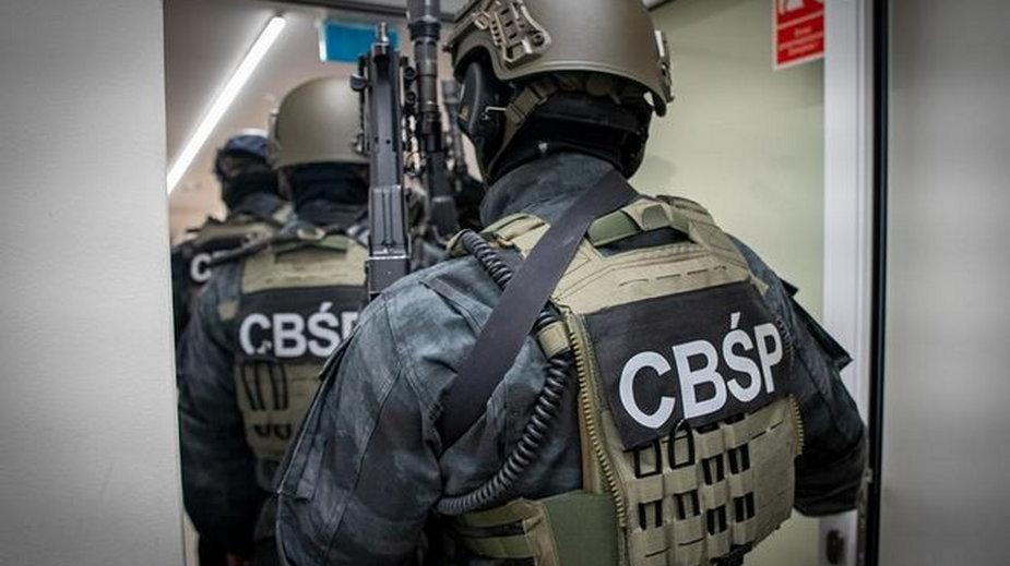 Funkcjonariusze CBŚP, fotografia ilustracyjna