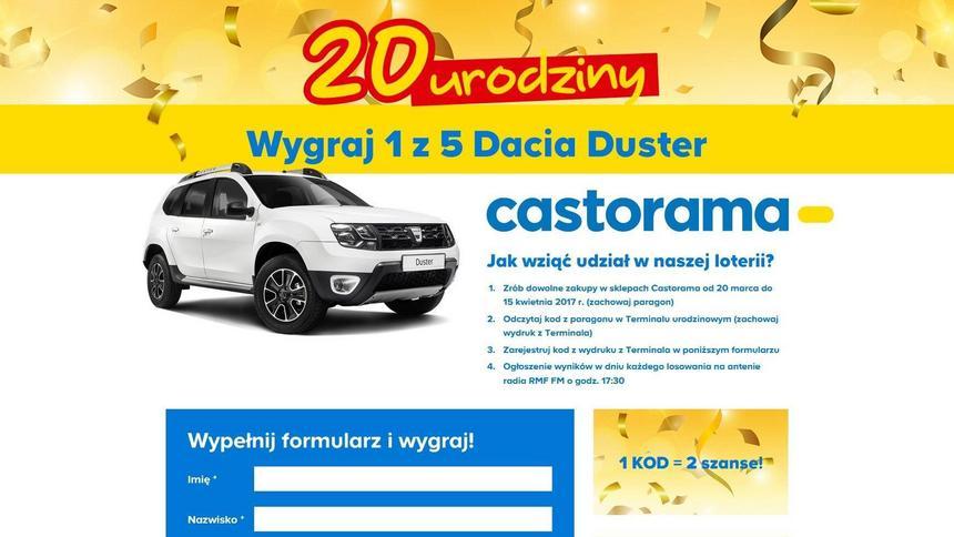 Castorama Loteria Urodzinowa Dacia Duster Do Wygrania Za Zakupy