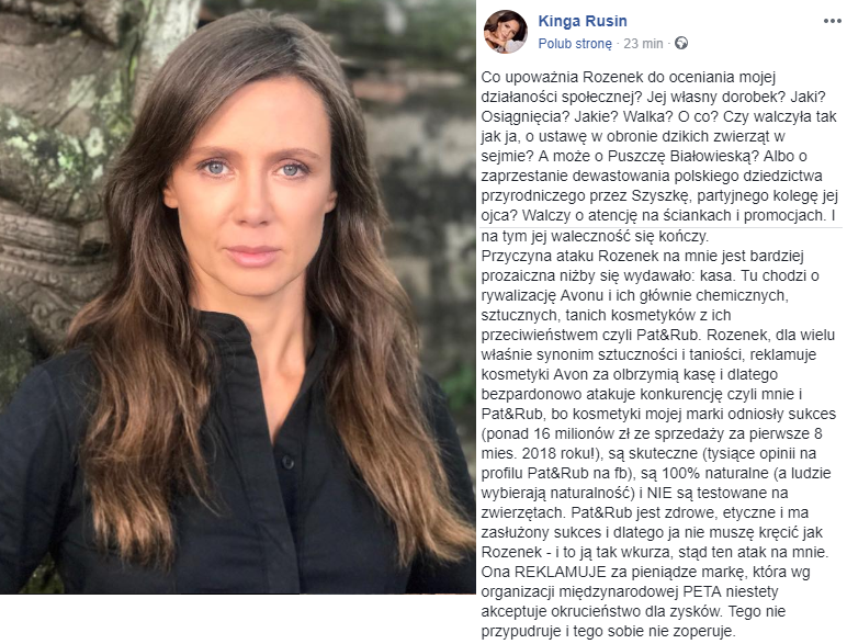 Kinga Rusin na Facebooku