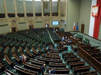 Posłowie w trakcie aktualnego posiedzenia Sejmu