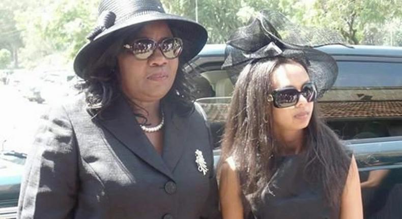 Ida Odinga with her daughter In-law Lwam Bekele