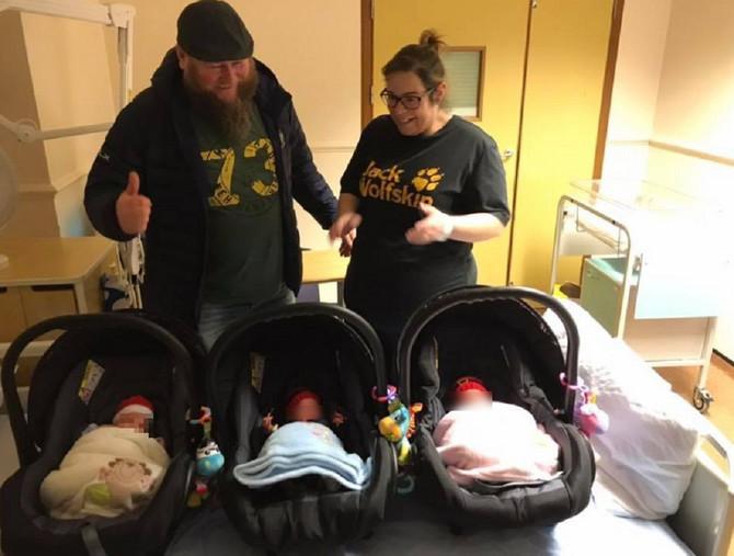 Čudo nad čudima: Ponosni roditelji sa trojkama