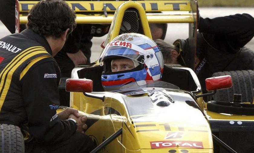 Władimir Putin, Formuła 1, bolid, auto, premier Rosji, Robert Kubica