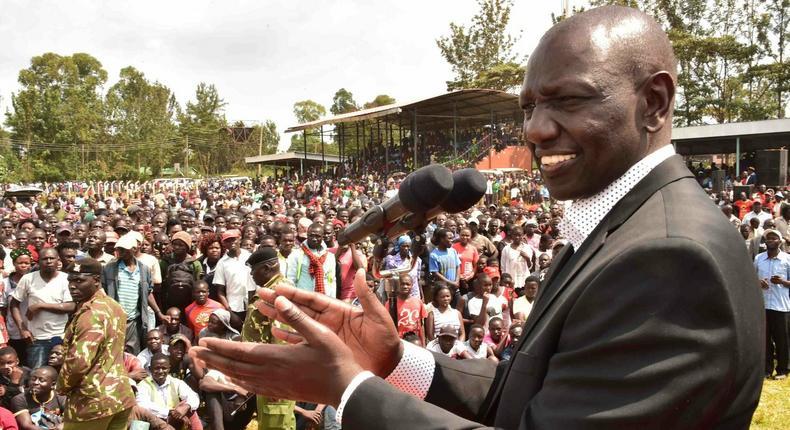 DP Ruto addressing the public in Vihiga County on Friday