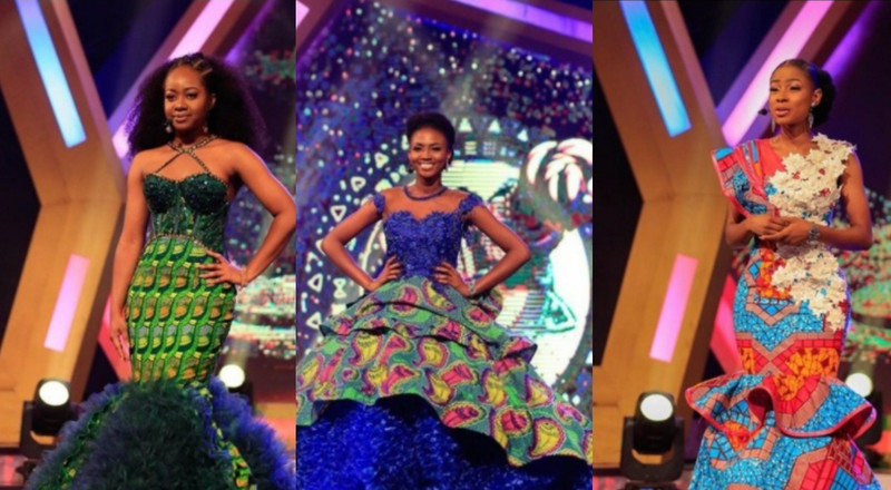 Ghana's most beautiful finalists' African print gowns are everything fashion forward