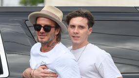 Beckhamowie na rodzinnym spacerze. Brooklyn jest kopią ojca