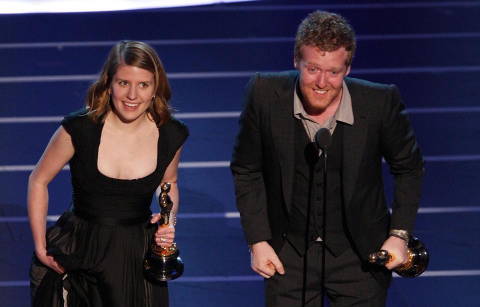 "Glen Hansard i Markéta Irglová - ceremonia w 2008 roku, Oscar za piosenkę napisaną na potrzeby filmu ""Once"""