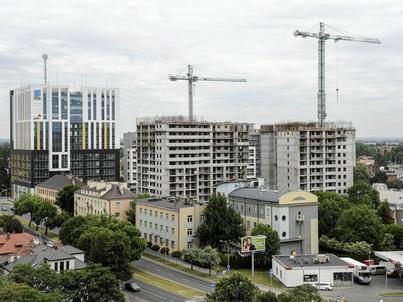 Budowa jednego z nowych osiedli w Rzeszowie