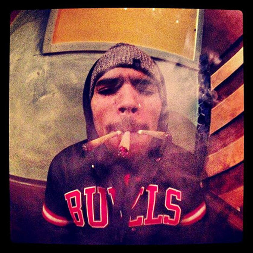 Chris Brown i jego zdjęcie z instagrama