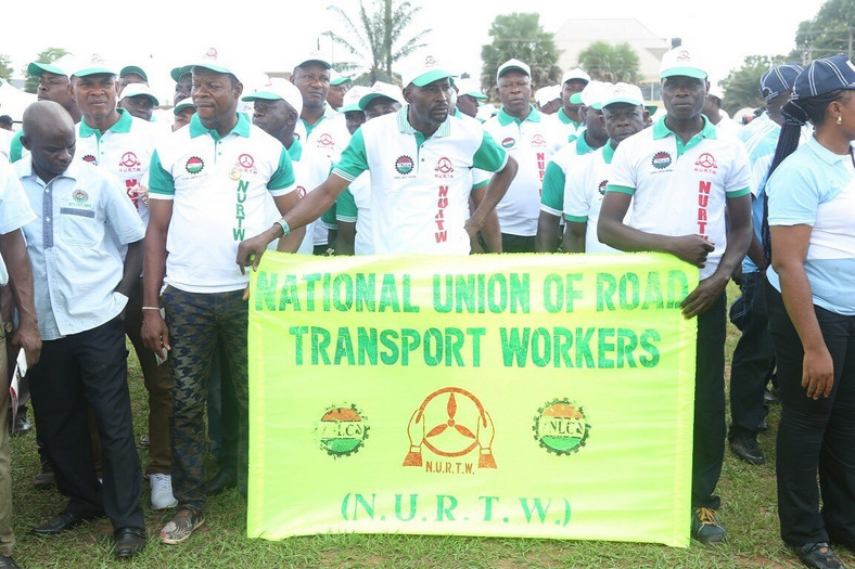 Members of the National Union of Road Transport Workers. (Asaba Metro )