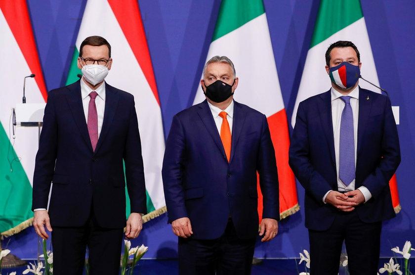 Mateusz Morawiecki, Victor Orban oraz Matteo Salvini