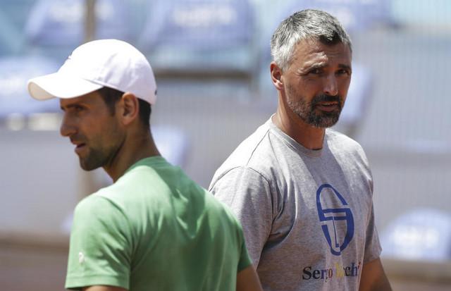 Goran Ivanišević i Novak Đoković