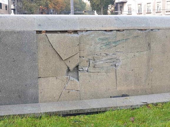 Oštećenja na fontani