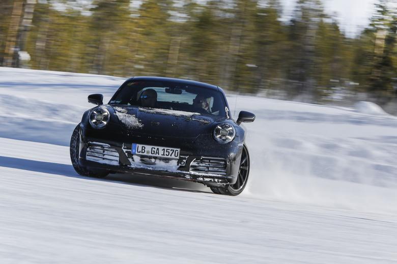 Nowe Porsche 911 podczas testów