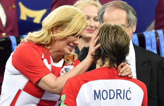 Predsednica Hrvatske, Kolinda Grabar-Kitarović,  i najbolji fudbaler Mundijala, Luka Modrić
