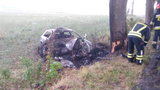 28-latek zginął w drodze do pracy. Jego auto spłonęło