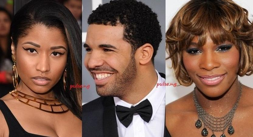 Nicki Minaj, Drake and Serena Williams