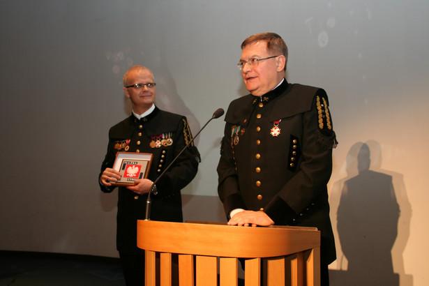 Działalność Brodzińskiego ograniczała się do kurtuazyjnych spotkań - tu podczas uroczystości barbórkowej w Katowicach.