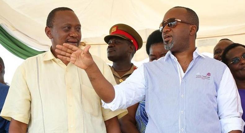 President Uhuru Kenyatta and Governor Hassan Joho