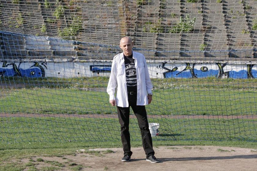 Jacek Sobczak (47 l.) na stadionie Górnika Wałbrzych
