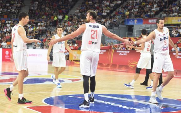 Košarkaši Srbije na meču sa SAD