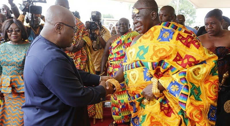 Asantehene or President? Ghana Twitter divided on who is more powerful in hot debate