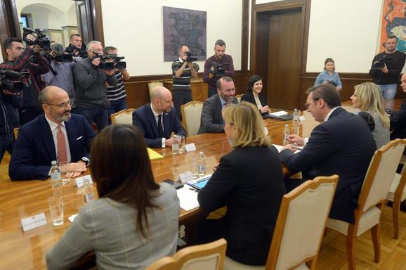 Aleksandar Vučić i delegacija Evropskog parlamenta