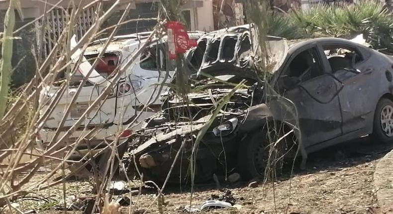 Sudan's Prime Minister Abdalla Hamdok  convoy was hit by a strong blast in Sudanese capital of Khartoum. (Twitter/Justin Lynch)