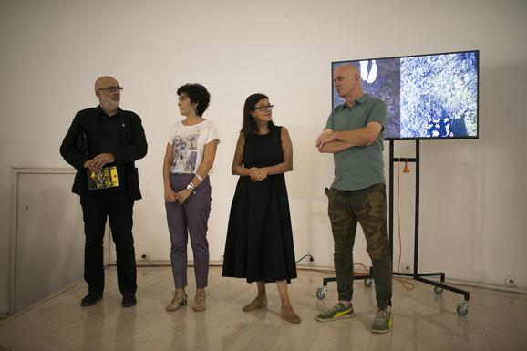 Izložba je otvorena u dvorani Kulturnog centra Beograda