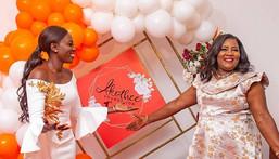 Kenyan celeb Akothee with Mama Ida Odinga during the celebration of 1 year anniversary of Akothee Foundation