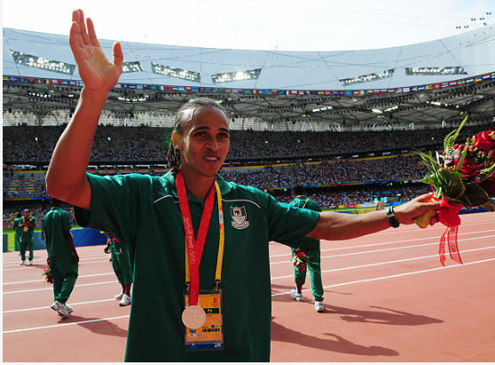 Osaze Odemwingie also won Silver at the 2008 Olympic Games with Nigeria's U23 ( MARTIN BERNETTI/AFP/Getty Images)