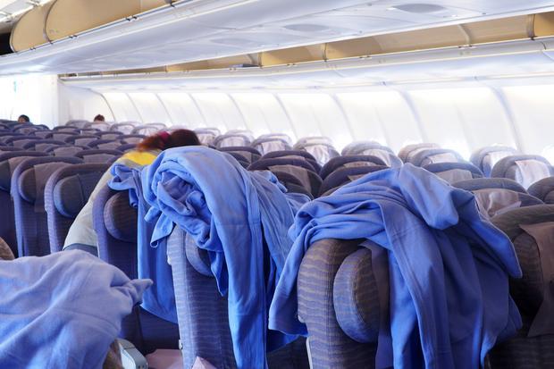 Koce w samolocie