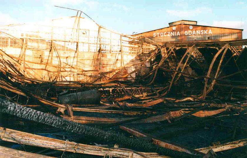 Pożar hali Stoczni Gdańskiej - 24 listopad 1994