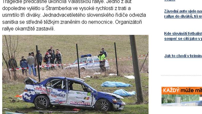Tragedia na rajdzie w Czechach