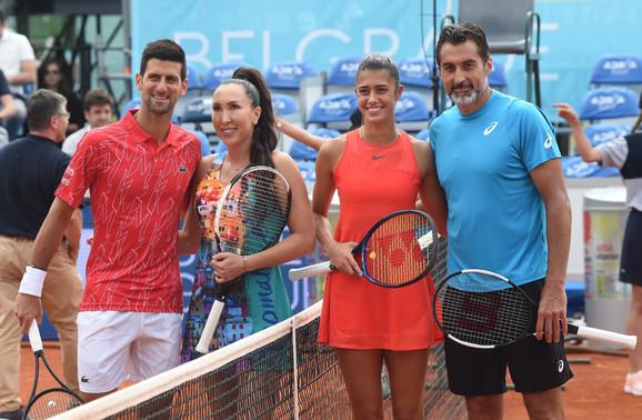 Dubl meč Novak Đoković, Jelena Janković, Nenad Zimonjić, Olga Danilović