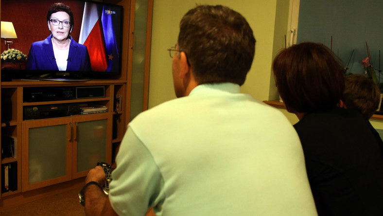 Telewizyjne wystąpienie premier Ewy Kopacz