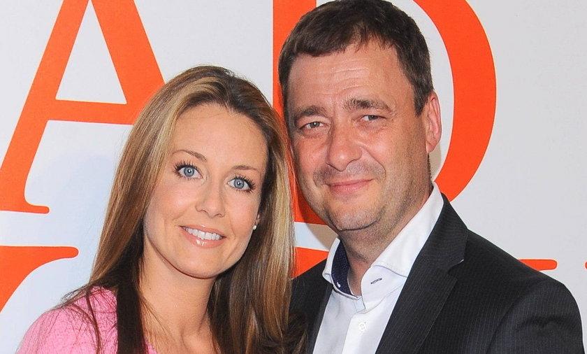 Jacek Rozenek z żoną