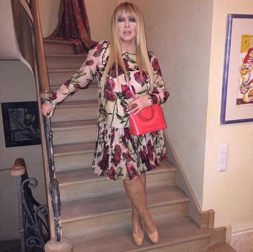 Maryla Rodowicz w sukience w róże