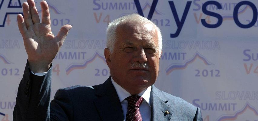 Były prezydent Czech Vaclav Klaus zachorował na Covid-19
