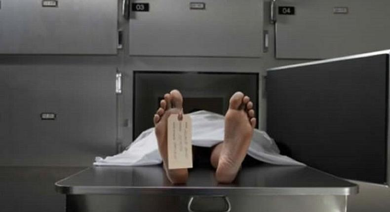 A man's corpse.